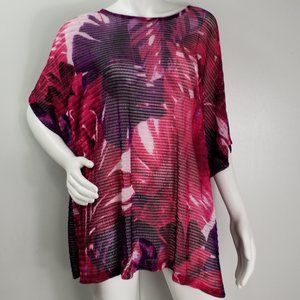 Catherine's Top Sz 3X Cut Out Sheer Stretch